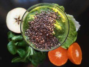 Smoothie zelený jarní mix