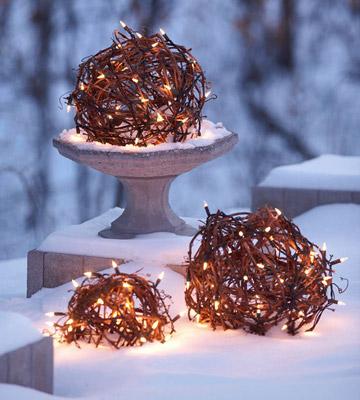 Vánoční koule z agáve