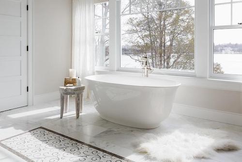 Chic koupelna v luxusní chalupě